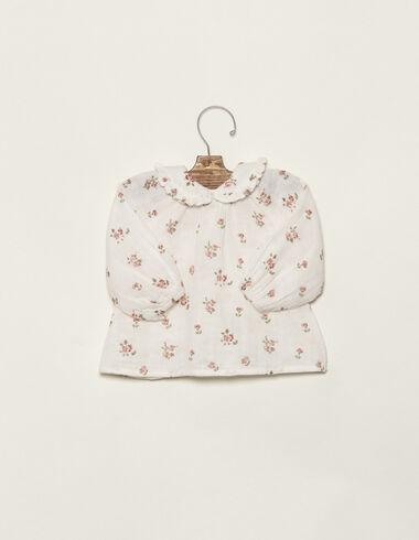 Pink flower print blouse - Shirts - Nícoli