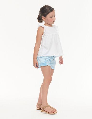Blue tie dye shorts - View all > - Nícoli