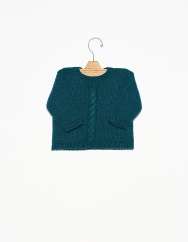 Dark green cable-knit jumper - View all > - Nícoli