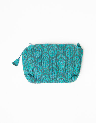 Green print makeup bag - Accesories - Nícoli