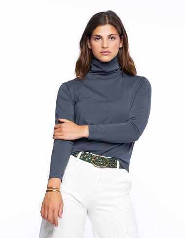 Camiseta cuello vuelto antracita - Ver todo > - Nícoli