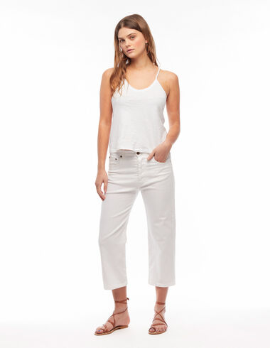 White boyfriend trousers - The Essential Jacket - Nícoli