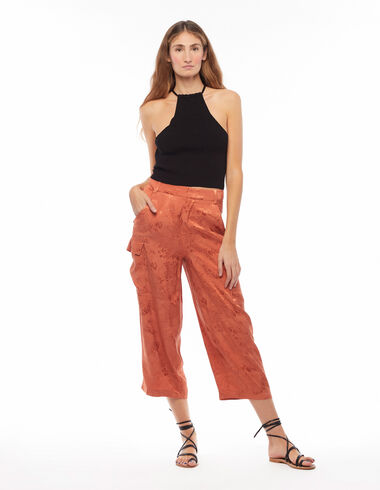 Pantalon coupe poches orange - New Colour - Nícoli