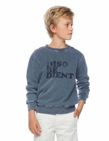 Dark blue Disobedient sweatshirt - View all > - Nícoli