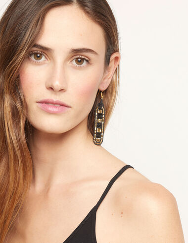 Gold beads cords earrings - View all > - Nícoli