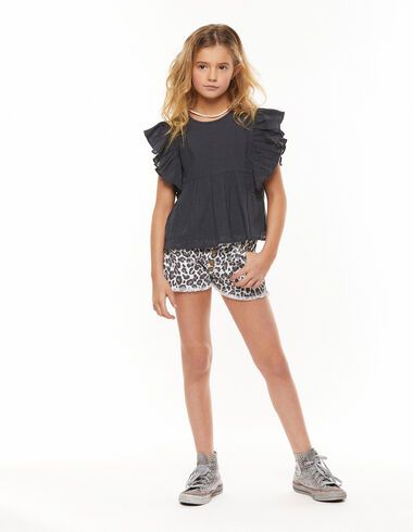 Short animal print blanco - Shorts - Nícoli