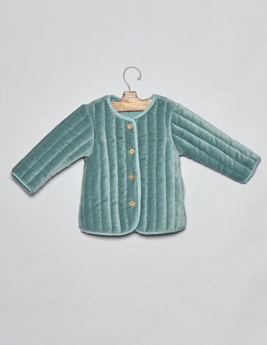 Gilet en velours vert pour bébés - Cardigans - Nícoli