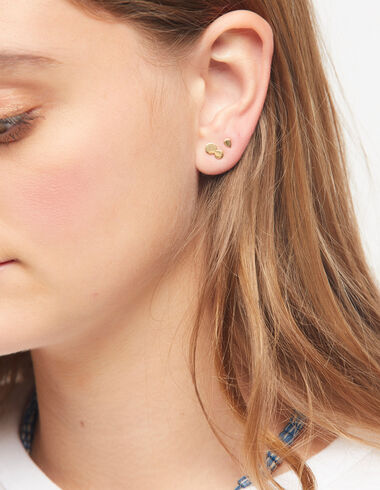 Drop earring in gold tone - View all > - Nícoli