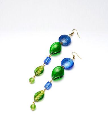 Maxi Lake Blue long earrings - New Autumn Drops - Nícoli