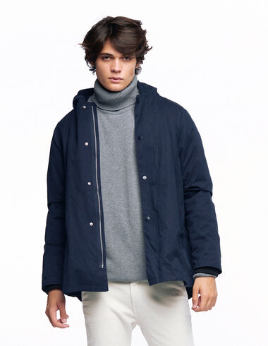 Blue hooded coat - Outerwear - Nícoli