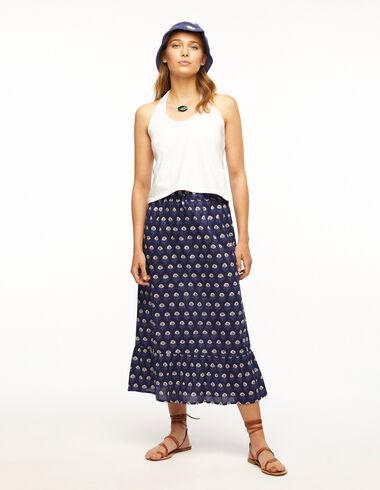 Blue buti long skirt - Ropa - Nícoli