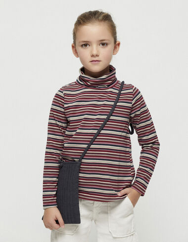 Dark striped turtleneck top - View all > - Nícoli