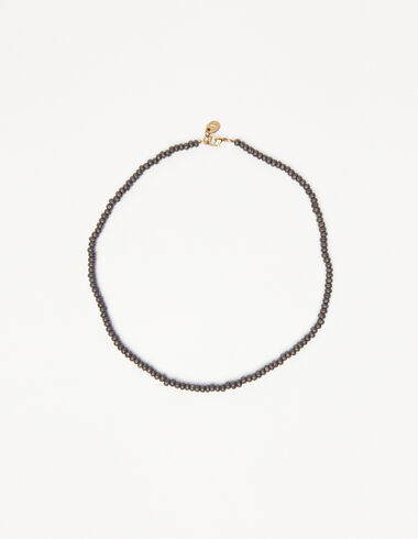Anthracite bead short necklace - View all > - Nícoli