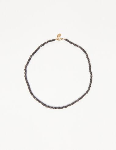 Collar corto bolitas antracita - New in - Nícoli