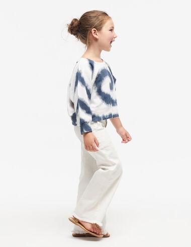 Sweat-shirt tie-dye bleu - Pulls et Sweatshirts - Nícoli