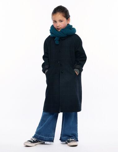 Abrigo cuello redondo cuadro azul - Ver todo > - Nícoli