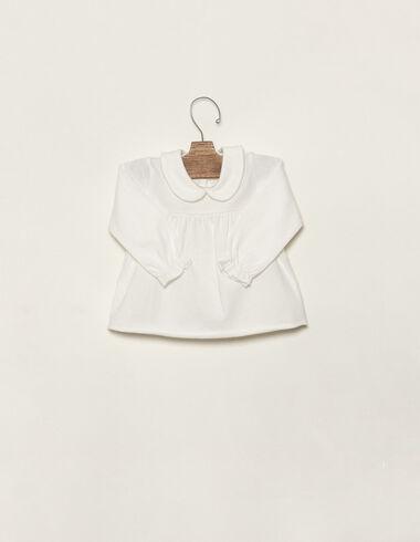 T-shirt écru col claudine - Voir tout > - Nícoli