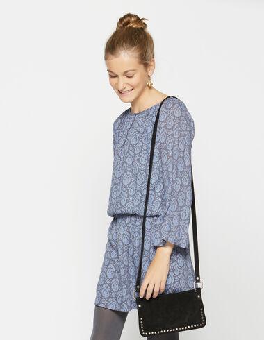 Vestido niña gomita paisley azul - Vestidos - Nícoli
