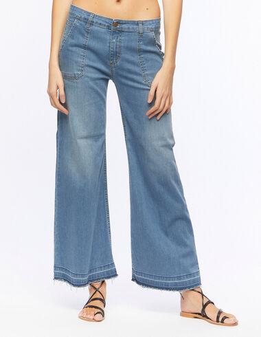 Wide-fit jeans with pockets - Denim - Nícoli