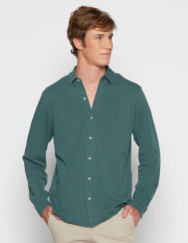 Boy's dark green polo shirt - View all > - Nícoli
