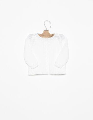 Pull torsadé blanc - Voir tout > - Nícoli
