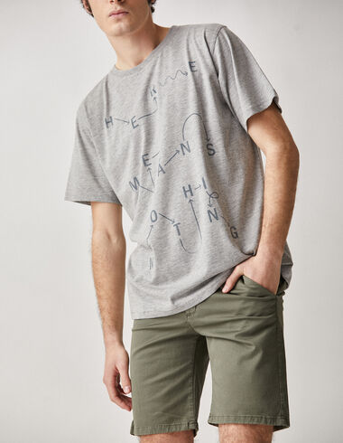 "Camiseta solidaria chico ""física"" gris - Camisetas - Nícoli"