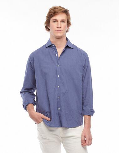 Indigo blue V-neck shirt - View all > - Nícoli