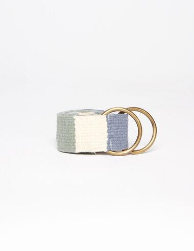 Blue checkered belt - Belts - Nícoli
