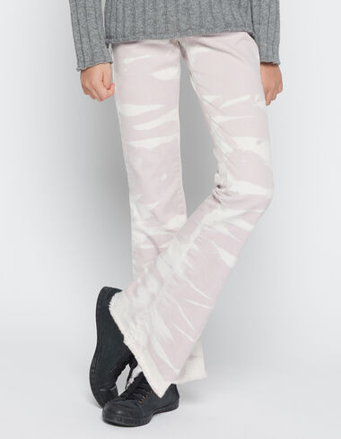 Girl's pink tie dye flared trousers - Trousers - Nícoli