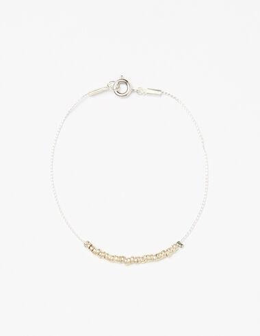 Bracelet perles argentées - Accesoires - Nícoli