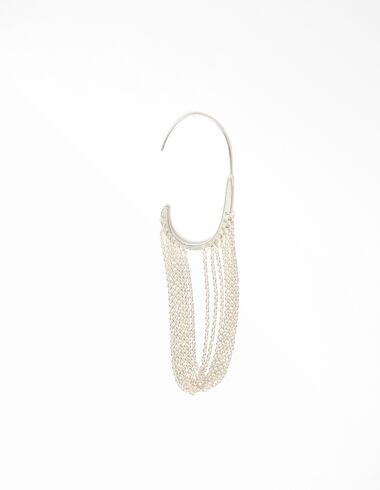 Ear cuff chaînes argenté - Voir tout > - Nícoli