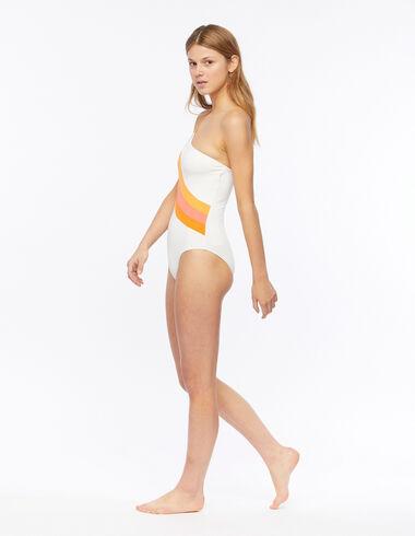White asymmetric swimsuit - View all > - Nícoli