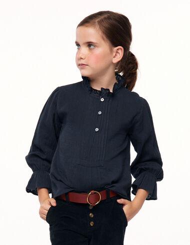 Camisa cuello perkins jaretas antracita - Ver todo > - Nícoli