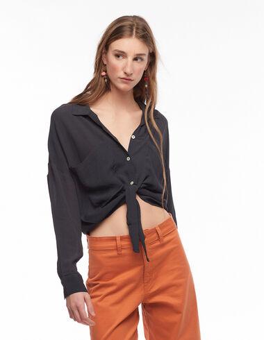 Camisa pico bolsillos antracita - Ver todo > - Nícoli