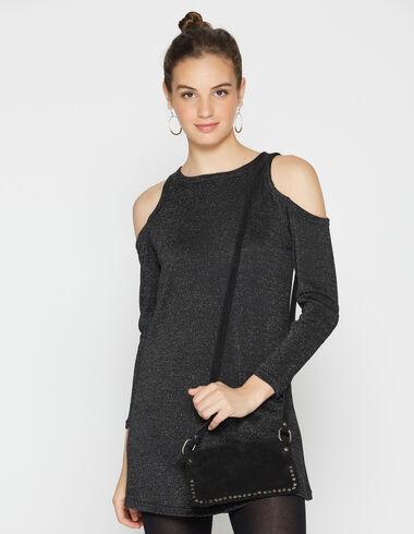 Girl's black sparkly shoulder dress - View all > - Nícoli