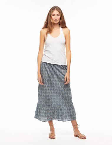 Falda larga espiga azul - Ver todo > - Nícoli