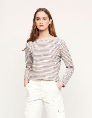 Pink striped long sleeved top - View all > - Nícoli