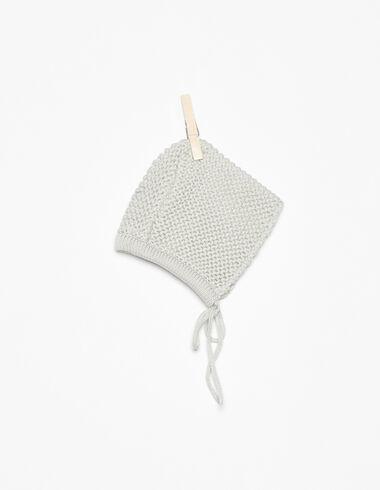 Grey knit bonnet - View all > - Nícoli