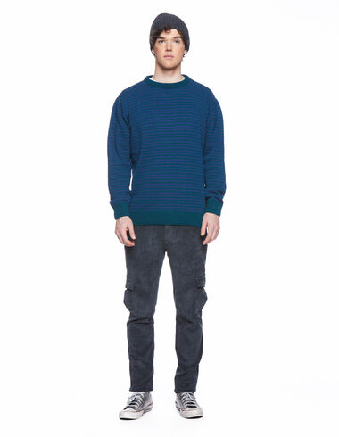 Long anthracite corduroy chinos with pockets - View all > - Nícoli