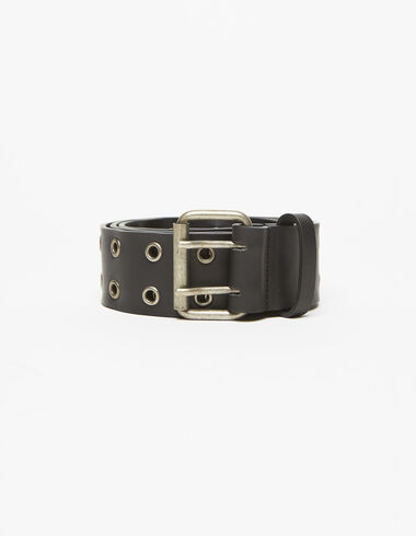 Silver perforated belt - View all > - Nícoli