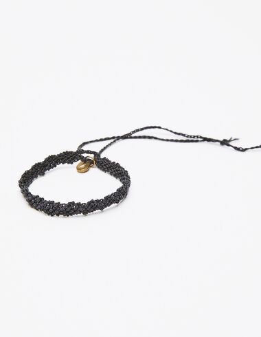 Anthracite macrame bracelet - Black is Back - Nícoli