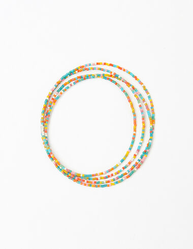 Collar largo bolitas multicolor - Ver todo > - Nícoli