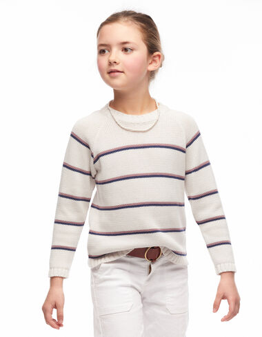 Blue and purple small stripes jumper - View all > - Nícoli