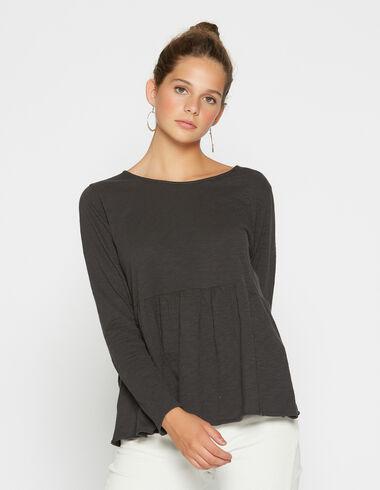 Camiseta chica corte negra - Camisetas - Nícoli