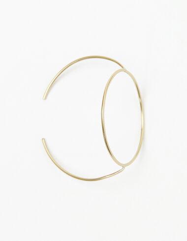 Pulsera círculo grande dorado - Pulseras - Nícoli