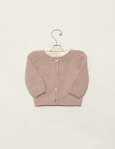 Pink cardigan with buttons - View all > - Nícoli
