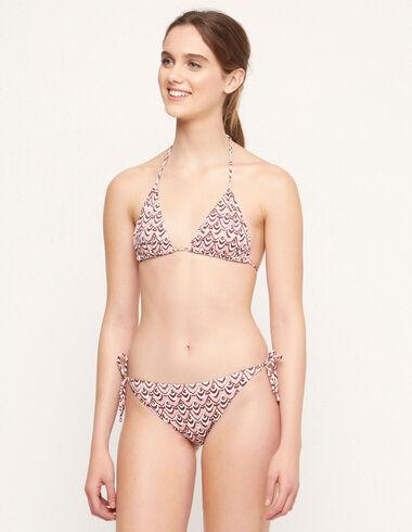 Pink waves shirred bikini - Swimwear - Nícoli