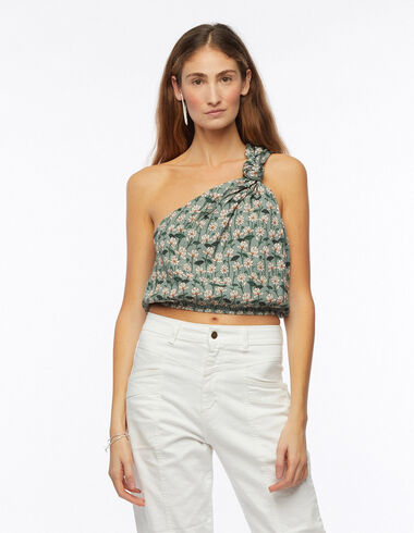 Top nudo print flor verde - Camisas y Tops - Nícoli