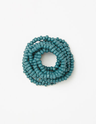 Girl's dark green bead necklace - Necklaces - Nícoli