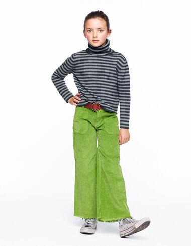 Pantalon wide leg poches côtelté vert clair - Voir tout > - Nícoli